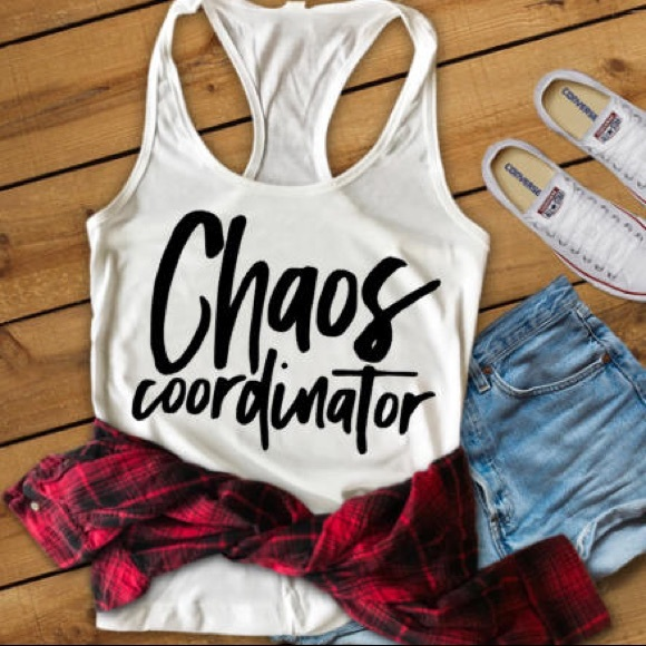 Plum Creek Boutique Tops - Funny Tops with Sayings -Chaos Coordinator - NEW